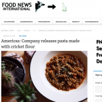 Food News Internationals (media) on Cricket Pasta