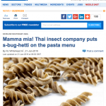Food navigator article about Cricket Pasta