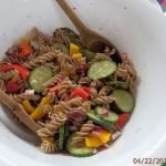 Cricket Pasta greek salad