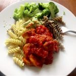 Jenny Josephs with Cricket Pasta