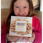 girl tasting Cricket Pasta