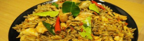 A random dish with our cricket pasta!
