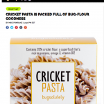 Food and Wine article - Cricket Pasta