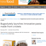 New Food Magazine on Cricket Pasta