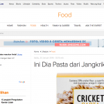 Okezone on Cricket Pasta (media)