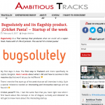 Ambitious Tracks article on Bugsolutely